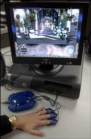 "This computer game, ""The Journey to Wild Divine: The Passage,"" is played using no keys or joysticks. A player uses three plastic biofeedback clips called Magic Rings, which monitor the player&squot;s heart rate and perspiration to judge the level of relaxation."