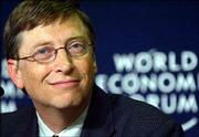 Bill Gates, chairman of Microsoft Corp., tops Forbes magazine's list of the world's billionaires. He spoke Jan. 23 during the annual meeting of the World Economic Forum in Davos, Switzerland.