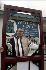 Mark Lehmann, owner of Old Home Depot, 1045 Pa., is being sued by Home Depot for trademark infringement. Lehmann, who has been in business in a former truck depot since 1998, said Friday he would fight Home Depot's suit but noted he couldn't match the corporate heavyweight's legal budget.
