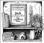 "An illustration for the nursery rhyme ""Jack be nimble, Jack be quick, Jack jump over the candlestick"" in Chris Roberts&squot; book ""Heavy Words Thrown Lightly"" is shown in this undated photo."