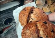 Kalamata Olive bread is a customer favorite at Wheatfields Bakery & Cafe.