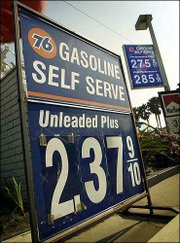 Unleaded Gasoline prices have hit $2.37 a gallon at a Union Oil station in Malibu, Calif. OPEC took a step that could push prices even higher by announcing Wednesday that it would cut its crude oil production target by 4 percent. Rising gasoline prices are paving the way to make energy a key issue in the presidential election.