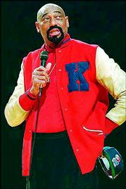 Wilt Chamberlain in his KU letter sweater, during a 1998 return to Lawrence.