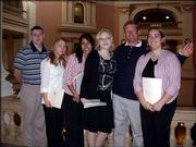 From left are John Berg, Claire Dooley, Amber Budenbender, Reagon Heikes, Larry Wilson and Erin Ashcraft. The Douglas County 4-H-ers recently attended Capital Day with Wilson, their sponsor, to learn more about state government. These youths are raising money to attend Citizenship Washington Focus in July in Washington, D.C.