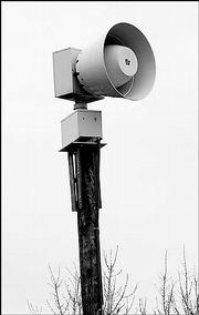 Douglas County looks to renew its maintenance contract for warning sirens. This siren is west of the intersection of 27th and Arkansas streets.