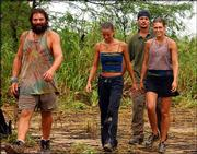 "Castaways, from left, Rupert Boneham, Amber Brkich, Rob Mariano, and Jenna Lewis on Contadora Island, Panama, appear on CBS' ""Survivor: All-Stars,"" in this 2003 publicity photo. A winner will be chosen from among these final four contestants on the series finale Sunday on CBS."