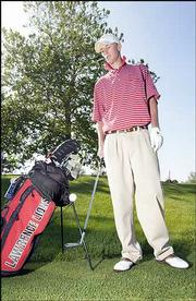 "Lawrence High&squot;s Nathaniel Spencer leads the city golf squads into their Class 6A regional today in Olathe. LHS coach Ron Commons called Spencer ""the best player to come through Lawrence."""