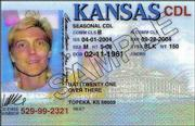 The new Kansas driver's licenses, unveiled Thursday, will be in a vertical format for people under 21 and horizontal for drivers 21 and older.