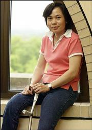 Yen Vo, of Vietnam, will graduate today from Kansas University with a master's degree in human development and family life. Vo, who contracted polio at age 2, is returning to her native country to advocate for rights for people with disabilities. Most disabled Vietnamese people have difficulties finding acceptance in the workplace.