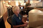 Lawrence City Commissioner Sue Hack answers questions during an online chat session Wednesday at the News Center.