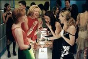 "Cast members from HBO&squot;s ""Sex and the City,"" from left, Cynthia Nixon, Kim Cattrall, Kristin Davis and Sarah Jessica Parker, appear in a scene in this undated publicity photo. The Emmy-winning series has been sold in syndication to TBS, which begins airing the show tonight."