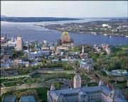 An aerial view of Old Quebec, Canada.