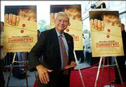 "Sen. Bob Graham, D-Fla., arrives for the preview of Michael Moore&squot;s ""Fahrenheit 9/11"" in Washington. The film opened Wednesday in limited release and will expand nationwide Friday."