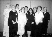 "St. Jude Circle 1127 members attend the Kansas State Daughters of Isabella semi-annual conference in Great Bend. Pictured are, back row from left, Jean O&squot;Toole, Rebecca Ford, Mary Walker, Circle regent Dee Morgison, past state regent Connie Rockers; front row from left, Debbie Filkins, state treasurer Janet Huss, Lori Wickliffe and Debbie Kurtz. Ford conducted a session on the club&squot;s motto, ""Unity, Friendship and Charity,"" during the April 17 conference."