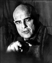 "Marlon Brando plays the seemingly-mad Col. Kurtz in ""Apocalypse Now"" in 1979."