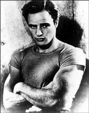 "Actor Marlon Brando plays Stanley Kowalski in this file photo from the 1951 film ""A Streetcar Named Desire."""