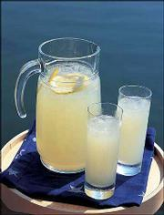 "Homemade Lemonade is a refreshing alternative to iced tea on a hot day. The recipe is from ""The White Barn Inn Cookbook,"" which features menus and recipes for all four seasons from a renowned inn at Kennebunkport, Maine, a region where summer has a special aura."