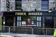 The owners of Fibber Magees pub, in Eyre Square in Galway, Ireland, say its business has declined because of a smoking ban approved by the government. Owners of the pub decided to offer a smoking area despite the ban. The pub's exterior was pictured Wednesday.