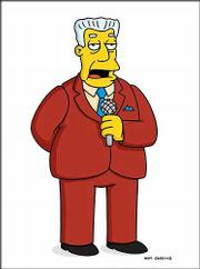 "Kent Brockman of ""The Simpsons."""
