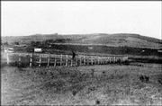 Noted photographer Alexander Gardner took this photo of Fort Union on Mount Oread. This view looks south from near where Memorial Stadium stands today at Kansas University.