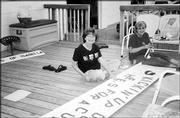 "Debbie Kurtz, left, and Connie Rockers, members of St. Jude Circle No. 1127, Daughters of Isabella, worked on the club&squot;s banner for Relay for Life, which was June 4-5 at Free State High School. They worked on the banner May 24 at the home of Rockers. The club&squot;s theme was Kickin&squot; Up Our Heels For a Cure."" Relay for Life raises money for the American Cancer Society."