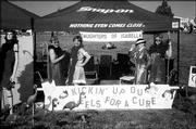 From left are Connie Rockers, Debbie Kurtz, Janet Huss and Kathie Baldwin. They were among the members of St. Jude Circle No. 1127, Daughters of Isabella, who participated in Relay for Life at Free State High School. The June 4-5 event raised money for the American Cancer Society. Their campsite won second place for best decorated site.
