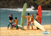 """The motto behind Surf Line Hawaii&squot;s Original Jams board shorts is """"color, freedom, difference and love."""""""