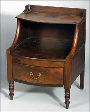 This Regency-style mahogany table commode is 30 1/2 inches high. It auctioned for $440.