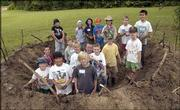 The first event in this year's Civil War on the Western Frontier commemoration is in the books. Sixteen area children built two mud forts Tuesday in Constant Park. The forts, built along the Kansas River, are much like Free Staters would have constructed to help protect the city in the early days of Lawrence.