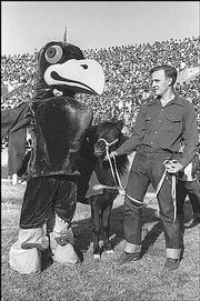 Here's a look at the 1953 Jayhawk mascot costume.
