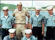 Democratic presidential nominee Sen. John Kerry, D-Mass., is seen in this 1969 photo as a Navy Lieutenant, second from left top, with members of his crew aboard PCF-31 in the Mekong Delta during the war in Vietnam. A television ad that has aired in three key battleground states and a new book have created a political furor over John Kerry's Vietnam War record,