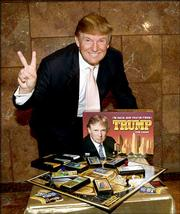 Donald Trump launches the new Parker Brothers board game, Trump the Game. He touted the game during a news conference Wednesday at Fifth Avenue Tower in New York.