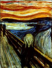 "A version of Edvard Munch&squot;s famous painting ""The Scream,"" shown in this undated file photo, has been stolen. Armed, masked thieves burst into a lightly guarded Oslo, Norway, museum and snatched a version of ""The Scream"" and ""Madonna,"" also by Munch, on Sunday."