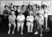 Participants take part in a water exercise class at Brandon Woods Retirement Community. They posed for a picture during a luncheon on July 27 at Mr. Gatti's in Lawrence. The lunch was in honor of Mary Ann Hicklin, front row third from left, who is undergoing chemotherapy. Class members wore hats instead of shaving their hair as she jokingly requested. Pictured are, front row from left, Jean Mattison, Virginia Grob, Mary Ann Hicklin and Elaine Mulliken; back row from left, Pat Nicholas, class instructor, Vivian Hunter, Vivian Clark, Fran Ogle, Melinda Milleret, Doris Hughes, Aline Kline, Jean O'Toole, Lois Groh and Nancy Kasberger. Not pictured are Lee Percival, Mary Harman and Betty Nichols.