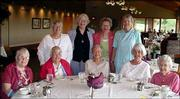 "Members of the Dickens Readers are, back row from left, Charlyn Orel, Helen Crockett, Sarah Casad and Pauline Scheve; front row from left, Marian Warriner, Cornelia Fields, Hilda Enoch, Marjorie Cole and Mary Allen. Each year the group chooses one or more Dickens&squot; novels to read aloud twice a month. They just completed ""The Pickwick Papers."""