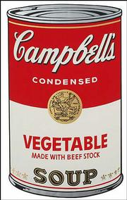 "Andy Warhol's ""Campbell's Soup I, Vegetable,"" 1968, from a portfolio of 10 screenprints on loan from the University of Michigan Museum of Art, is part of ""Commodities, Celebrities, Death & Disaster,"" an exhibition that opens today at the Salina Art Center."