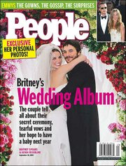 People Magazine's Oct. 4 issue will offer details of pop star Britney Spears and Kevin Federline getting married. The wedding took place last weekend.