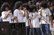 Back in 2001, KU's freshmen serenaded their mothers while pretending to be the Jackson Five.