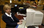 2nd Congressional District Democratic Candidate Nancy Boyda participates in an online chat Monday at the Lawrence Journal World News Center. Boyda answered questions from the public during the online chat Monday.