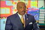 Education Secretary Rod Paige is seen in an image made from an Education Department video, which the Bush administration has used to promote its education law. The video comes across as a news story but fails to make clear the reporter involved was paid with taxpayer money.