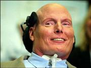 "Christopher Reeve&squot;s near-fatal riding accident nine years ago turned him into a worldwide advocate for spinal cord and stem-cell research. The ""Superman"" star died Sunday at his home in New York. He&squot;s shown here during a May 2003 news conference in Washington, D.C."