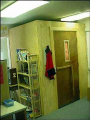 This photo was shown to members of the Legislative Educational Planning Committee on Monday as advocates decried the use of seclusion rooms.