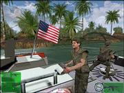 "This image from the video game ""Kuma War"" from Kuma Reality Games shows the likeness of Sen. John Kerry in military attire driving a Swift boat in this undated promotional photo. Video games have entered the race for the White House and joined Internet blogs as the 2004 election&squot;s newest format for political expression."