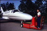 "Nascar driver Mark Martin pulls his jet onto a runway in this 1998 photo. So many drivers have private planes that they&squot;re often called the ""NASCAR Air Force."""