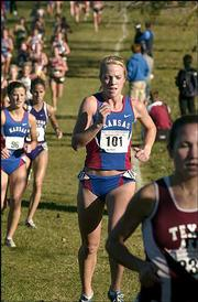 KU's Megan Manthe (101) led the Jayhawk women, placing 47th.