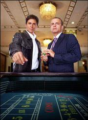 "Rob Lowe, left, as Dr. Billy Grant, portrays an unconventional physician who leaves behind the world of emergency medicine to become the in-house doctor at a Las Vegas casino run by his good friend Tommy Danko, played by Joe Pantoliano, right, in ""dr. vegas."" CBS cancelled the show on Tuesday, the same day that NBC announced it would yank ""Father of the Pride"" for the November sweeps."