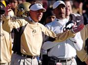 Colorado coach Gary Barnett expresses his displeasure with his team's play in the third quarter of Colorado's 31-7 home loss Saturday to Texas.