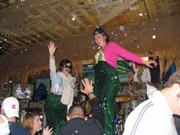 Kaci and Catelin dance on the bar at the Sandbar on Saturday November 2.