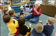 Linda Reimond has won the Phoenix Award for Arts Education. Reimond is pictured teaching an arts-based preschool class at the Lawrence Arts Center.