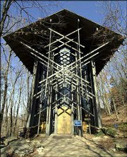 Thorncrown Chapel, set amid the trees in Eureka Springs, Ark., is a favorite wedding spot.